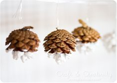 Color dipped pine cones. A little bit rustic, a little bit matched to the color scheme.