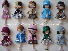 Sewing Machine Basics, Felt Fairy, Clay Ornaments, Felt Brooch, Felt Patterns, Sewing Toys, Fabric Jewelry, Handmade Beads, Felt Dolls