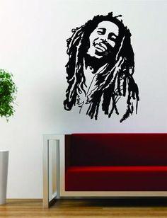Bob Marley Version 2 People Music Reggae Rasta Decal Sticker Wall Vinyl Decor Art - boop decals - vinyl decal - vinyl sticker - decals - stickers - wall decal - vinyl stickers - vinyl decals