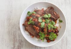 Slow cooked smoky beef chilli