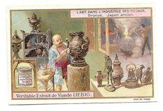 Bronze  - Japon ancien  -- Chromo Liebig - Trade Card