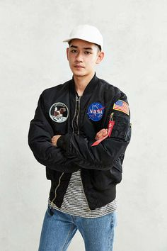 97f04b86d48 Alpha Industries NASA MA-1 Bomber Jacket - Urban Outfitters Nasa Bomber  Jacket
