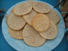 "Sugar Cookies with Almonds make ""Sand Dollar Cookies!"""