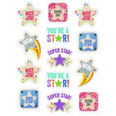 Creative Teaching Press Star Reward Stickers Upcycle Style for sale online Reward Stickers, Emoji Stickers, Star Stickers, Classroom Displays, Classroom Decor, Creative Teaching Press, New Students, Bright Stars, Scrapbook Stickers