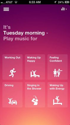 "Awesome app idea for organizing music by mood. SONGZA - ""plays the right music at the right time"" . app store best of free. no listening limits. only one commercial/day Game Design, Web Design, App Ui Design, User Interface Design, Flat Design, Icon Design, Ui Kit, Apps For Writers, Iphone"