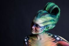 Syfy Face Off Body Painting Face Off, Photographie Art Corps, Alien Female, Alien Cosplay, Alien Makeup, Sfx Makeup, Costume Makeup, Airbrush Makeup, Female Body Art