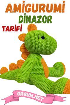 Baby Knitting Patterns, Crochet Toys, Dinosaur Stuffed Animal, Animals, Fictional Characters, Crochet Animal Amigurumi, Paper Crafting, Crocheting, Tejidos