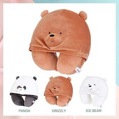 Recipe Drawing, U Shaped Pillow, We Bear, India Colors, We Bare Bears, Neck Pillow, Cute Bears, Head And Neck, Cute Fashion