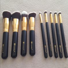 BH Cosmetics brush set Used once. Great condition. Comes with four face brushes and five eye brushes. BH Cosmetics  Makeup Brushes & Tools