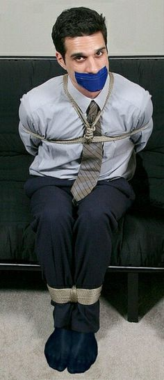 Tied in a suit