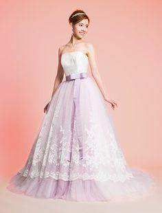 ウエディングドレス、高品質な結婚式ドレスならW by Watabe Wedding / 2WAY・カラードレス・Aライン・パープル・グリッター