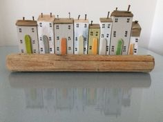 Driftwood Cottages Houses, Coastal Seaside Beach Recycled Art, Miniature Houses, Nautical, Shabby Chic, 5th Anniversary Gift, Wood Craft Art Driftwood Sculpture, Driftwood Art, Cute Little Houses, Seaside Beach, Craft Art, Recycled Art, Miniature Houses, Cottage Homes, Valentine Gifts