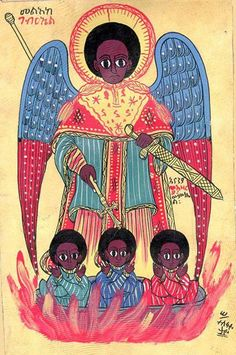 Shadrach, Meshach And Abednego Religious Icons, Religious Art, African Culture, African Art, Blacks In The Bible, Angel Plant, Black Jesus, Horn Of Africa, Mystery Of History