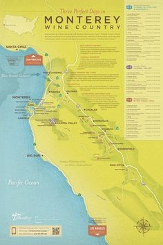 Download the Tasting Map - Monterey CA wineries