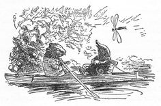 ernest shepard black and white wind in the willows - Google Search