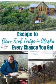 Escape to Bear Trail Lodge in Alaska Every Chance You Get Alaska Travel, Travel Usa, Travel Tips, Travel Guides, Travel Destinations, Alaska Fishing Trips, Places Around The World, Around The Worlds, Bristol Bay