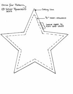 This Pattern Makes A Six Inch Star Can Also Be Used For Felt Projects