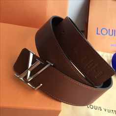 Louis Vuitton lv woman man leather belt
