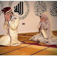 just before wedding night . Praying for the blessing of Allah💕LA DAMA L.A💕 ALLAH💕 Cute Muslim Couples, Muslim Girls, Romantic Couples, Wedding Couples, Cute Couples, Romantic Weddings, Couple Musulman, Couple Shoot, Muslim Love Quotes