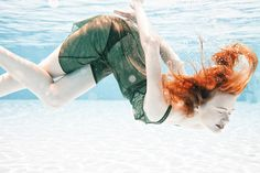 """A very interesting """"underwater project"""" by Simone Angioletti;    In his project he's explaining relationships between water and fabrics.    makeup and hair GIULIA MARANGONI  styling KEREN  WOGERBAUER  model NASTYA @WOMEN MODEL MANAGEMENT, MILAN"""