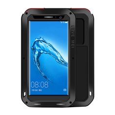 6d7660a4b49 [$16.52]LOVE for MEI Huawei Maimang 5 Professional and Powerful Dustproof  Shockproof Anti-slip Metal + Silicone Combination Case (Black)