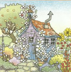 Cross Stitch Corner - Cross Stitch Charts and Cross Stitch Kits. Cross Stitching, Cross Stitch Embroidery, Machine Embroidery, Cross Stitch House, Mini Cross Stitch, Cross Stitch Designs, Cross Stitch Patterns, Michael Powell Cross Stitch, Arte Country