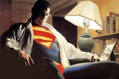 Alex Ross Clark/Superman: My favorite image of Superman. Ross, captures the weight of the Superman role on Clark with this painting Superman Images, Superman Family, Batman And Superman, Superman Stuff, Clark Superman, Superman Pictures, Superman Poster, Spiderman, Alex Ross