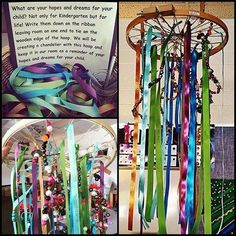 Art therapy activities writing Families made this at the the beginning of the year last year! Our Hopes and Dreams Chandelier! Reggio Emilia Classroom, Reggio Inspired Classrooms, Classroom Displays, Door Displays, Preschool Rooms, Kindergarten Classroom, Eyfs Classroom, Classroom Ideas, Preschool Plans