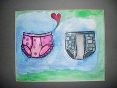 Polka Dot Tighty Whities Love Underwear Art  by TashinaRocks, $18.00