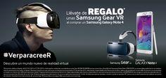 Llega la realidad virtual y Samsung quiere dar un empujón a esta tecnología regalando las Samsung Gear VR al comprar el Samsung Galaxy Note 4!!!