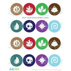 skylanders cupcake circles