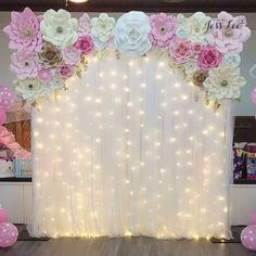 Backdrop for a beautiful baby shower ❤️ Birthday Party Decorations Diy, Wedding Stage Decorations, Baby Shower Decorations, Sweet 16 Party Decorations, Quince Decorations, Birthday Parties, Paper Flower Decor, Quinceanera Decorations, Beautiful Baby Shower