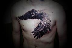 raven tattoo designs | Ivan Yug - Realism Tattoos - Creativitea