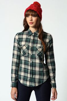 Lola Check Shirt With Stud Detail On Pockets