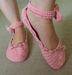 Crochet club: ballet slippers