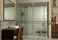 ArtiCAD / BathCAD bathroom with ceiling shower tap design