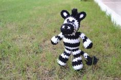 Little Big Foot Zebra Pattern ~ Love this little guy! Zebra is the adopted symbol for people with Ehlers- Danlos Syndrome, which I have. I so want to make this!