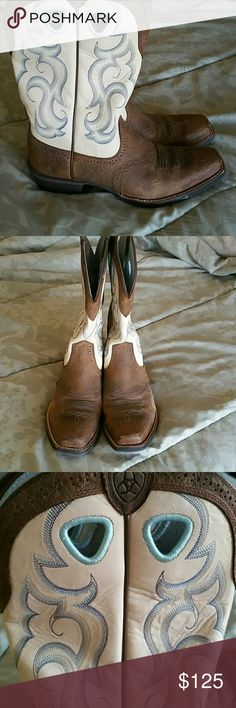 """Ariat Boots, Like Great Condition! Ariat Women's Boots, Style Name """"Rawhide"""" in fabulous condition,  literally worn no more than 3 times! Made to look worn! Shoes Heeled Boots"""