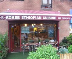 Just off Caledonian Road, this tiny Ethiopian Restaurant is run by a grandmother who acts as manager, waitress and chef, occasionally with help from her younger relatives. The food is exciting and the experience is even better. Eat with your hands.
