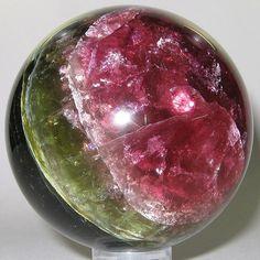 Tourmaline (polished sphere) / Zambia