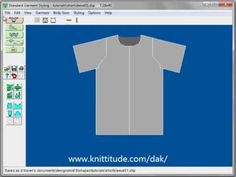 DesignaKnit 8 Standard Garment Tutorial - Create A Short Sleeve Summer Top