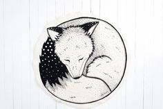 Tapis de jeu Sleepy Fox / Nursery décor / tapis de par BabeeandMe