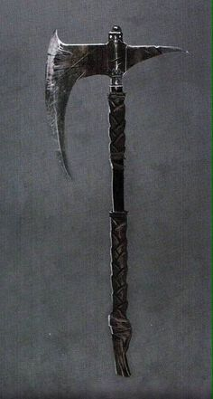 Dragonslayer's Crescent Axe Nordic axe one handed Fantasy Sword, Fantasy Armor, Fantasy Weapons, Medieval Fantasy, Sci Fi Weapons, Medieval Weapons, Weapon Concept Art, Anime Weapons, Armas Ninja