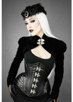 Restyle Kunst-Leder Korsett Black Widow Corset Steel Boned Gothic Steampunk A Steampunk Outfits, Mode Steampunk, Style Steampunk, Gothic Steampunk, Steampunk Clothing, Gothic Outfits, Gothic Clothing, Women's Clothing, Gothic Beauty