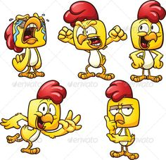 Realistic Graphic DOWNLOAD (.ai, .psd) :: http://jquery-css.de/pinterest-itmid-1006051481i.html ... Cartoon Chicken ...  angry, cartoon, character, chicken, crying, cute, dancing, emotion, expression, gradient, happy, illustration, isolated, rooster, serious, thinking, vector, yelling, yellow  ... Realistic Photo Graphic Print Obejct Business Web Elements Illustration Design Templates ... DOWNLOAD :: http://jquery-css.de/pinterest-itmid-1006051481i.html