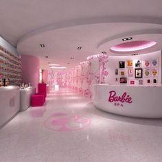 "An actual ""Barbie"" salOn. wOrds cannOt describe the lOve. Barbie Life, Barbie Dream House, Barbie World, Dreamhouse Barbie, Girl Bedroom Designs, Girls Bedroom, Dream Rooms, Dream Bedroom, Schönheitssalon Design"