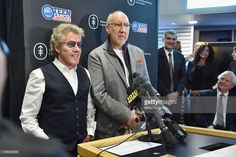 Singer Roger Daltrey (L) and guitar player Pete Townshend of The Who attend the Memorial Sloan Kettering Cancer Center Teen And Young Adult Space 'The Lounge' Opening at Memorial Sloan Kettering Cancer's The Lounge on March 18, 2016 in New York City.