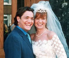 This EastEnders couple have had an on/off relationship ever since they first got together. April 1997 wedding of Ricky and Bianca Butcher Best Shows On Netflix, Soap Stars, Tv Soap, Tv Couples, Me Tv, East London, Reality Tv, Bbc, How To Memorize Things