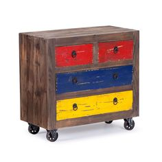 Playfully Rustic Rolling Cabinet | dotandbo.com Man, I am loving bohemian chic deco.  To be single again and do over I would totally be this style.  Sorry Dear!