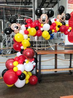 Balloon Arches - Balloon Brilliance Mickey Mouse first Birthday party Mickey 1st Birthdays, Mickey Mouse First Birthday, Mickey Mouse Clubhouse Birthday Party, 2nd Birthday, Elmo Party, Dinosaur Party, Dinosaur Birthday, Birthday Ideas, Minnie Maus Ballons